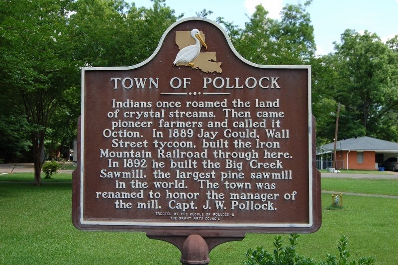 Town of Pollock Marker image. Click for full size.