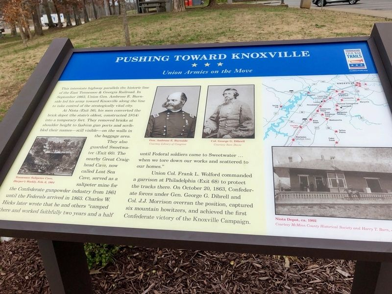 Pushing Toward Knoxville Marker image. Click for full size.