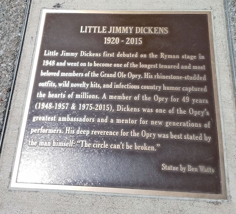 Little Jimmy Dickens Marker image. Click for full size.