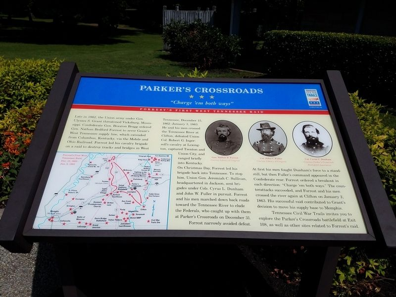 Parkers Crossroads Marker image. Click for full size.