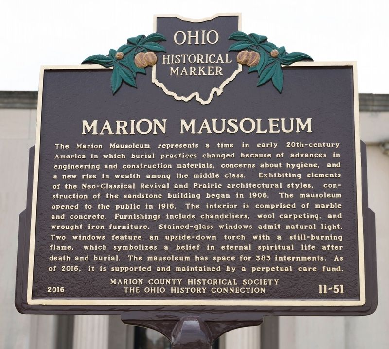 Marion Mausoleum Marker image. Click for full size.
