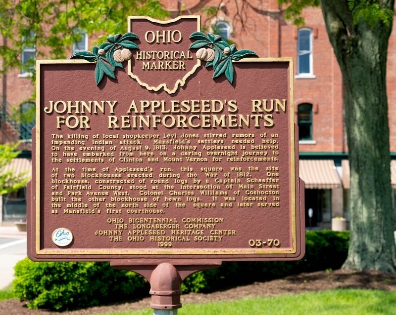 Johnny Appleseed's Run for Reinforcements Marker image. Click for full size.