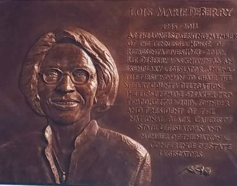 Lois Mari DeBerry (1945 - 2013) First Woman Elected - Speaker Pro Tempore of the House image. Click for full size.