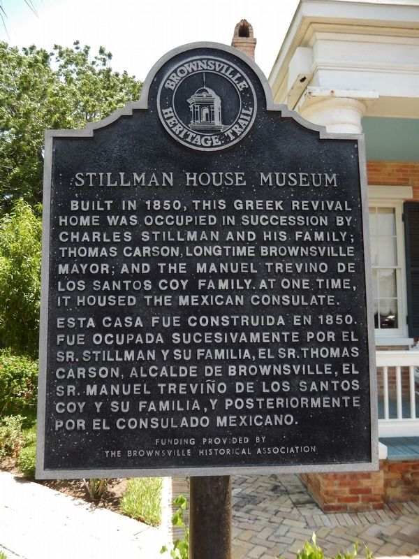 Stillman House Museum Marker image. Click for full size.