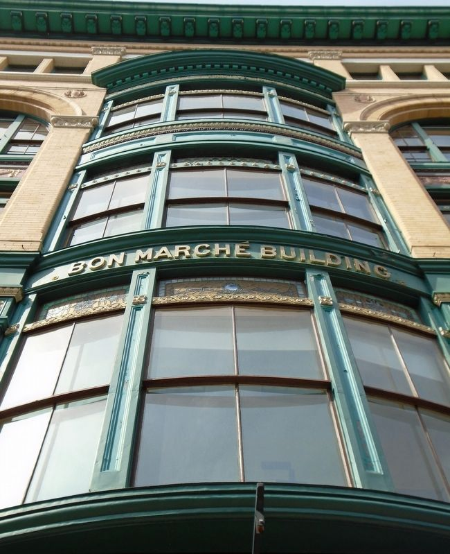 Bon Marche Building Detail image. Click for full size.