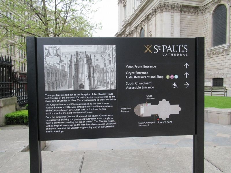 St Paul's Cathedral Marker image. Click for full size.