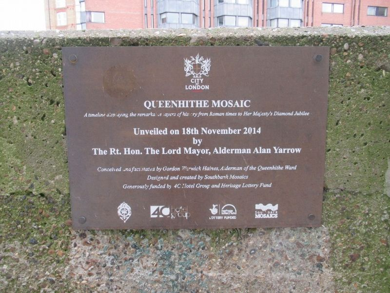 Queenhithe Mosaic Marker image. Click for full size.