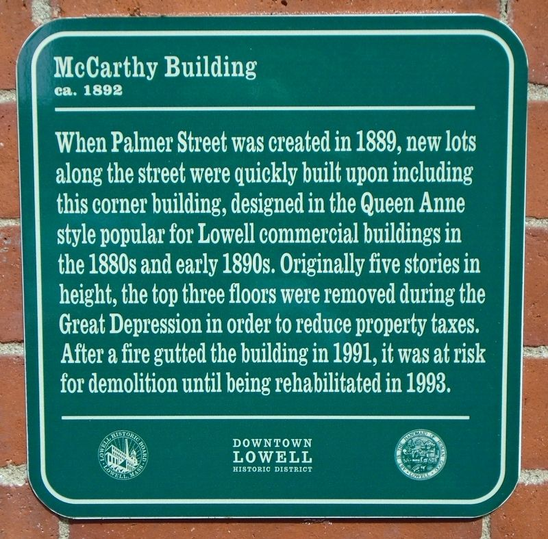 McCarthy Building Marker image. Click for full size.