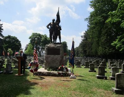 S.U.V.C.W. Service at Memorial image. Click for full size.