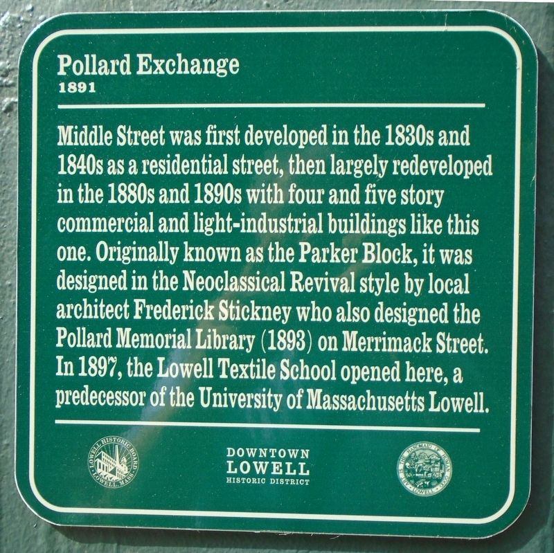 Pollard Exchange Marker image. Click for full size.