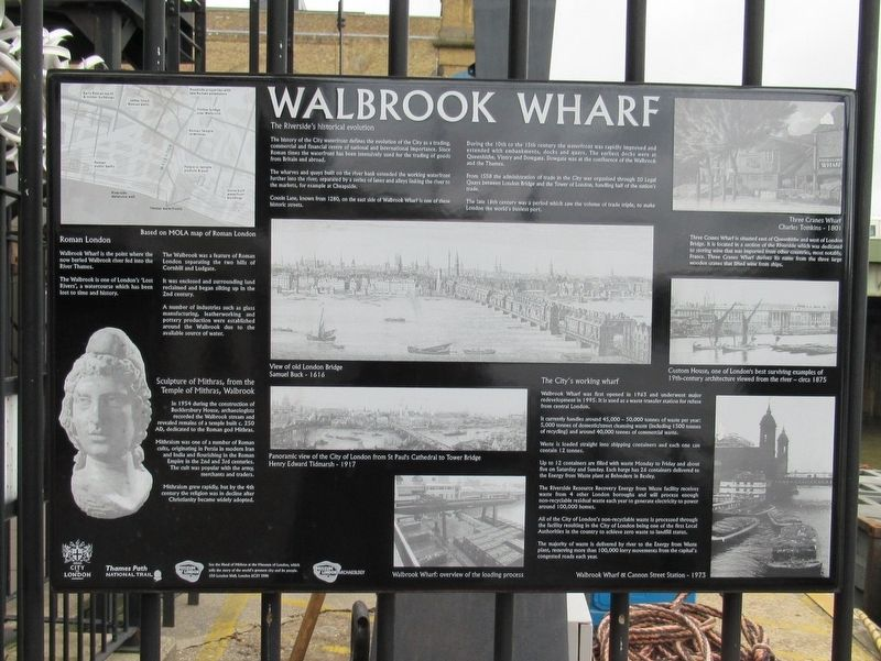 Walbrook Wharf Marker image. Click for full size.