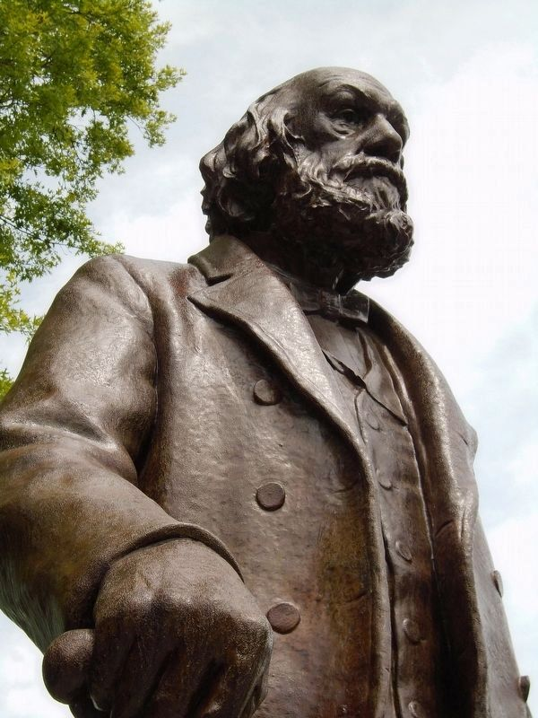 Edward Everett Hale Sculpture Detail image. Click for full size.