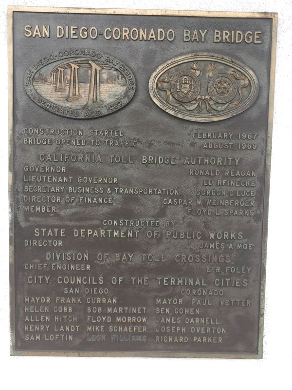 San Diego Coronado Bay Bridge Marker image. Click for full size.