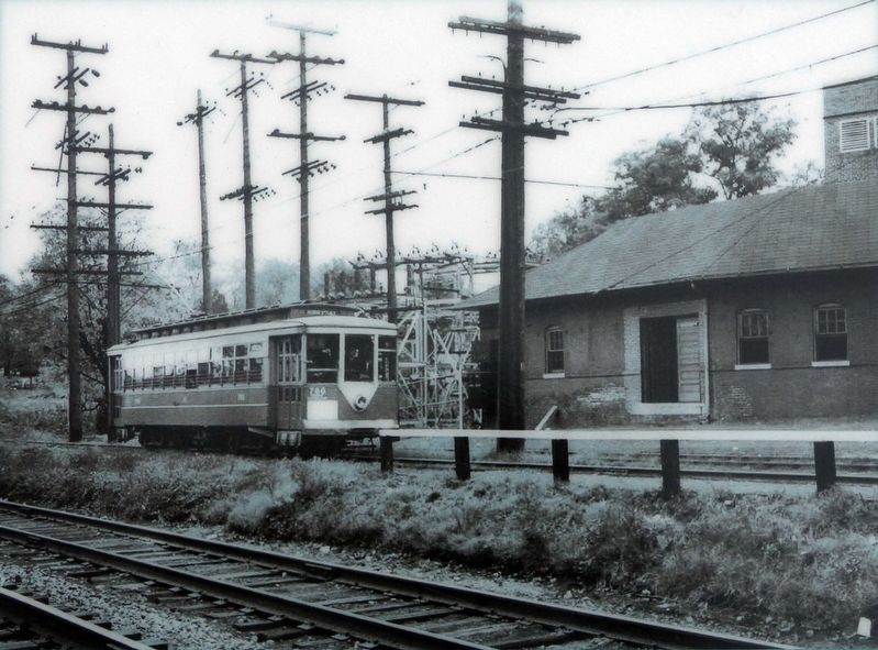 Trolley No, 766 at Madison Street between Hyattstown and Riverdale, 1950 image. Click for full size.