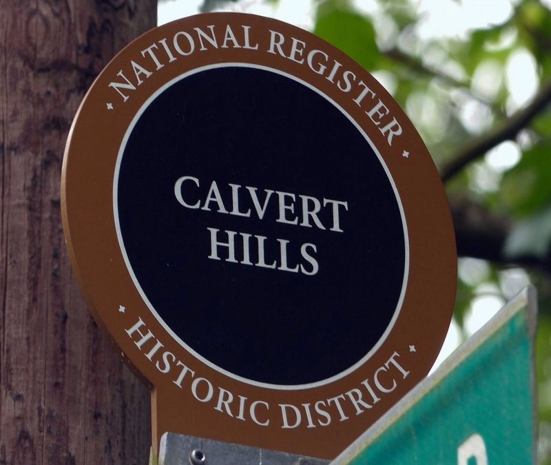 Calvert Hills National Register Historic District image. Click for full size.