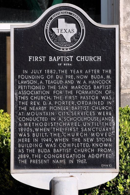 First Baptist Church of Buda Marker image. Click for full size.