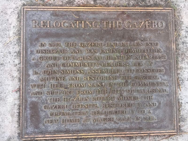 Relocating the Gazebo Marker image. Click for full size.