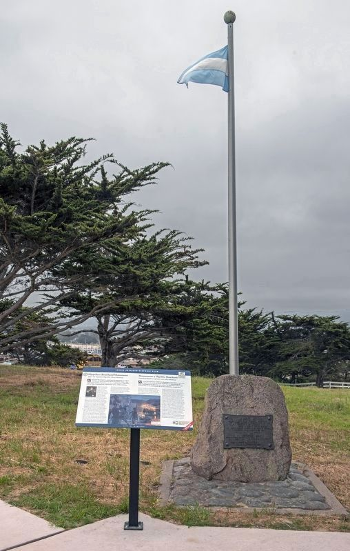Hippolyte Bouchard Monument and Marker image. Click for full size.