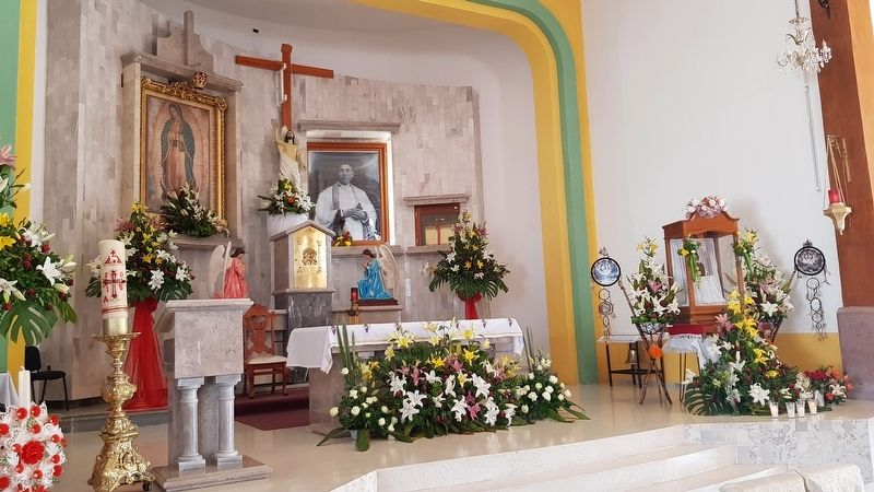 The altar of the The Virgin of Guadalupe Church image. Click for full size.