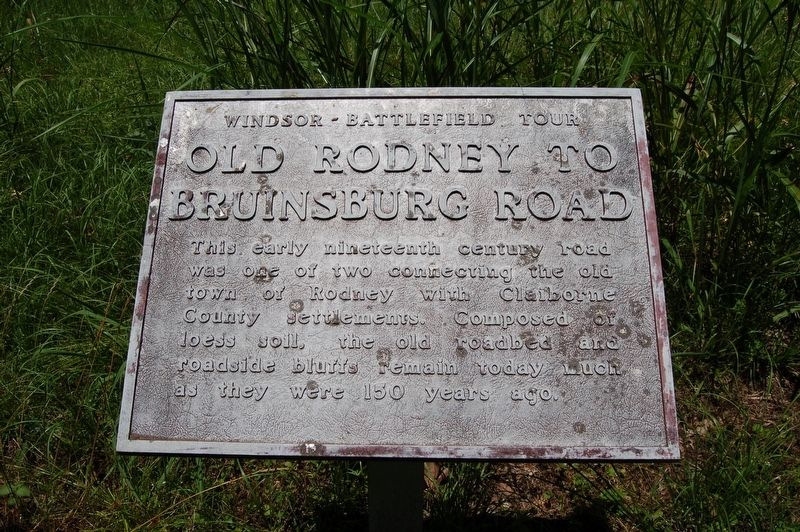 Old Rodney to Bruinsburg Road Marker image. Click for full size.