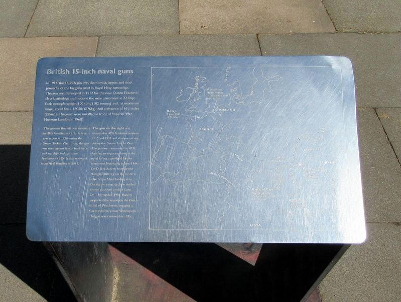British 15-inch naval guns Marker image. Click for full size.