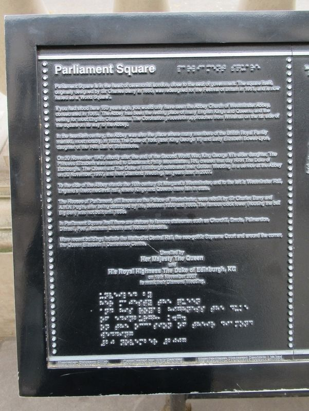 Parliament Square Marker image. Click for full size.