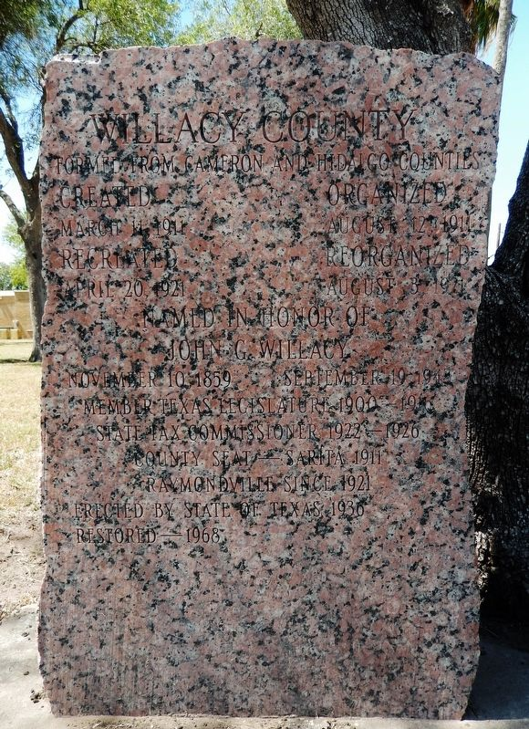 Willacy County Marker image. Click for full size.