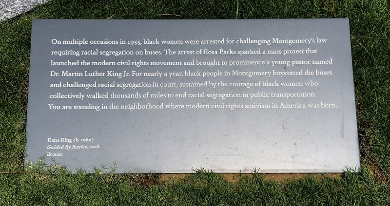 Montgomery Racial Segregation on Buses Marker image. Click for full size.