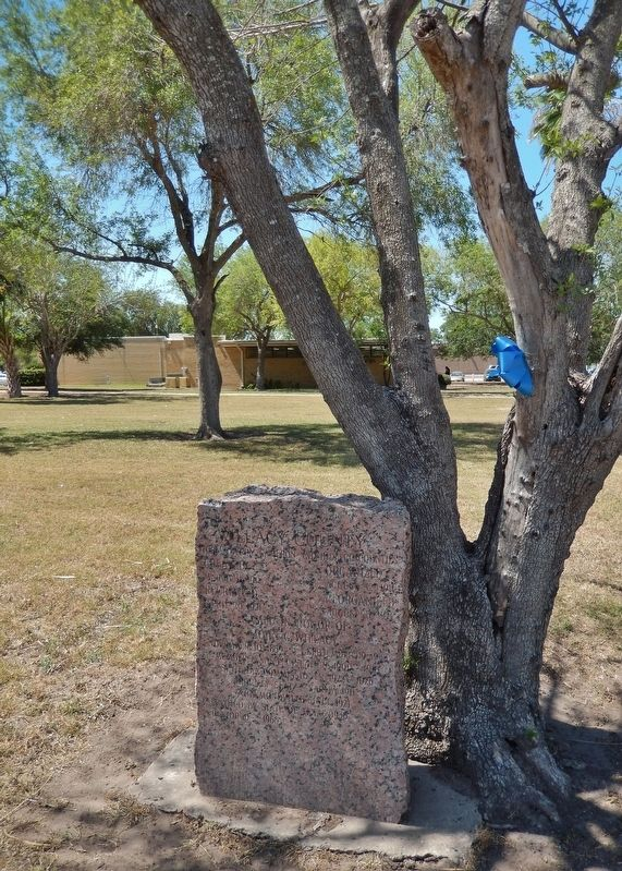 Willacy County Marker (<i>tall view</i>) image. Click for full size.