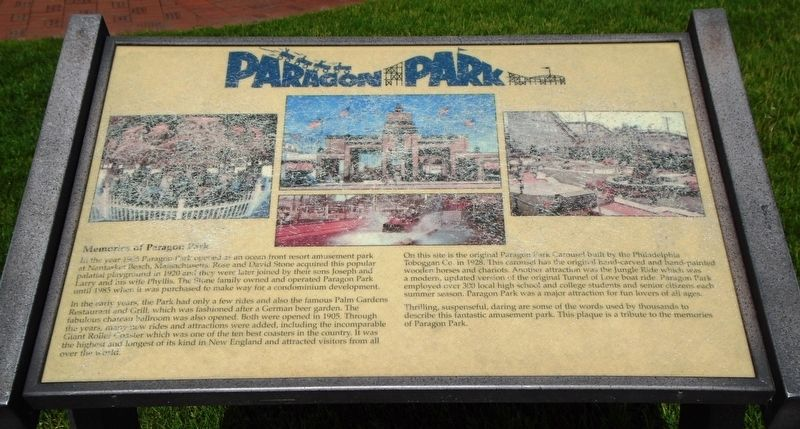 Paragon Park Marker image. Click for full size.