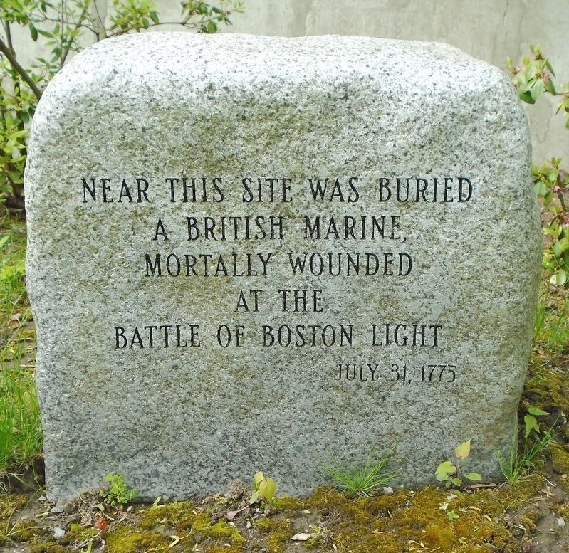 British Marine Burial Site Marker image. Click for full size.