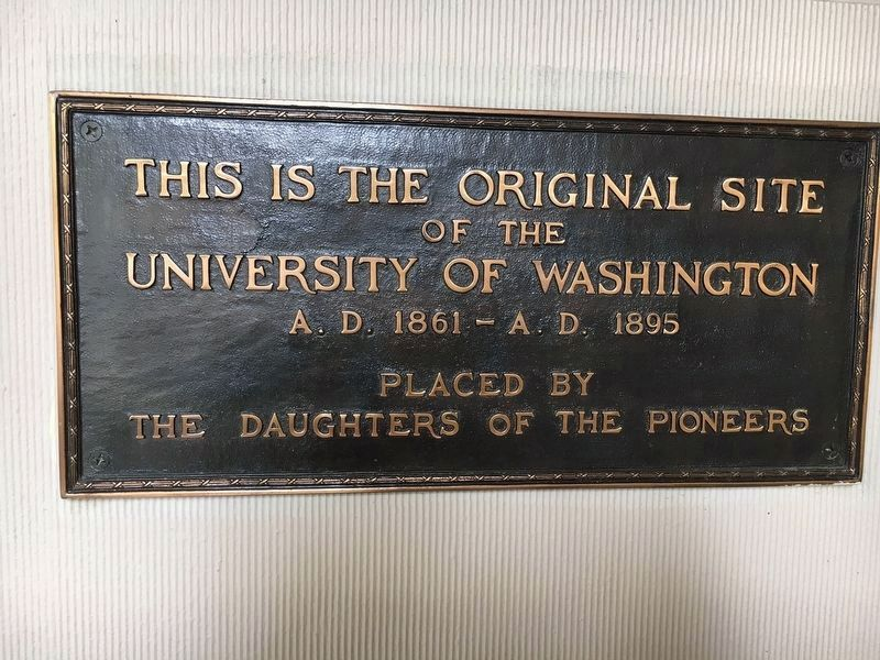 Original Site of the University of Washington Marker image. Click for full size.