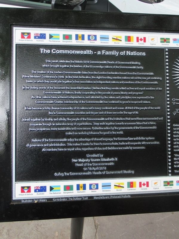 The Commonwealth – a Family of Nations Marker image. Click for full size.