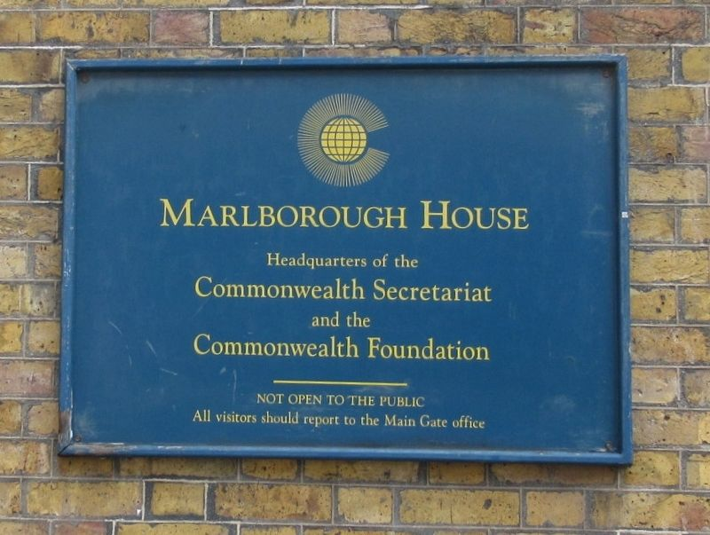 Plaque on the Marlborough House image. Click for full size.