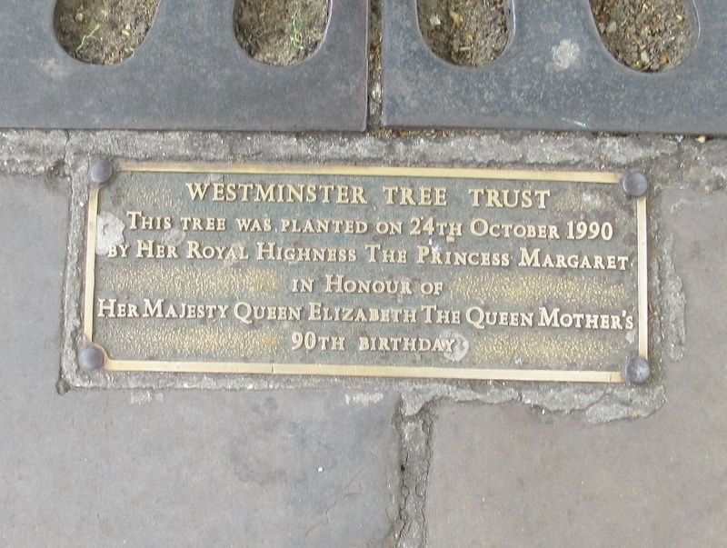 Westminster Tree Trust Marker image. Click for full size.
