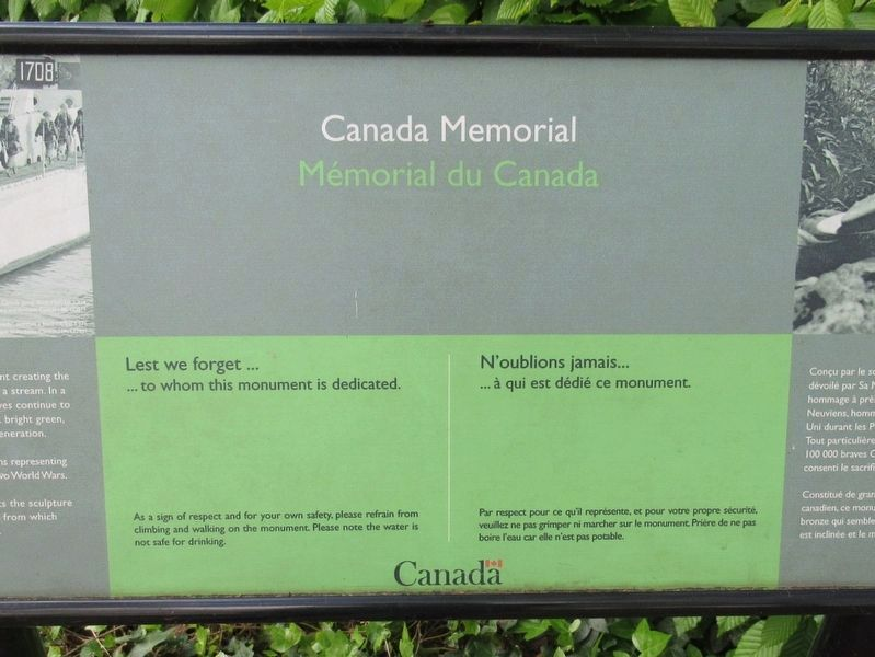 Canada Memorial Marker image. Click for full size.