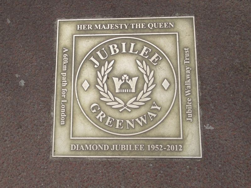 Jubilee Greenway Marker image. Click for full size.