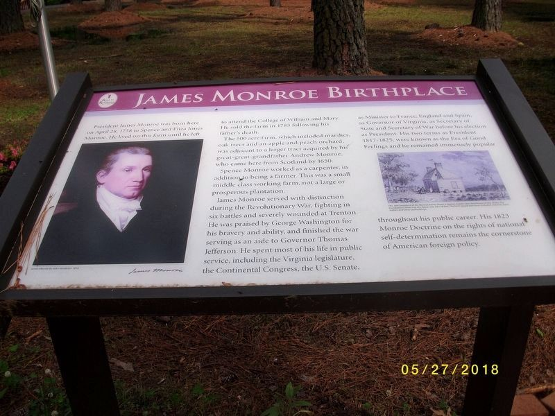 James Monroe Birthplace image. Click for full size.