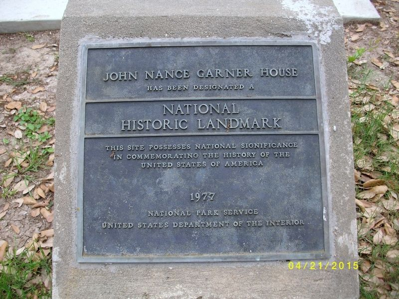 John Nance Garner House Marker image. Click for full size.