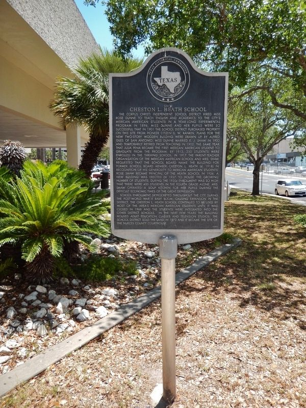 Site of Cheston L. Heath School Marker (<i>tall view</i>) image. Click for full size.