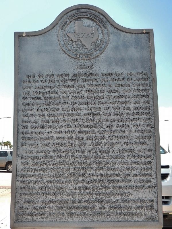 LULAC Marker image. Click for full size.