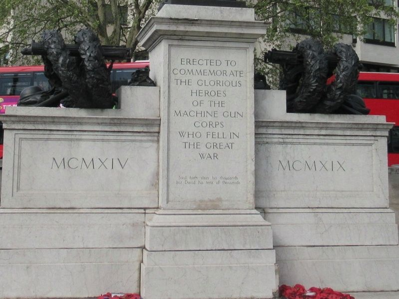 Machine Gun Corps Memorial image. Click for full size.