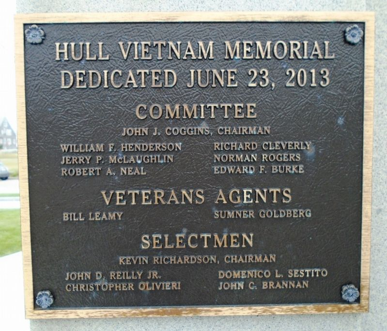 Vietnam War Memorial Dedication Marker image. Click for full size.