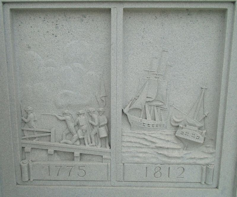 War Memorial 1775 and 1812 Reliefs image. Click for full size.