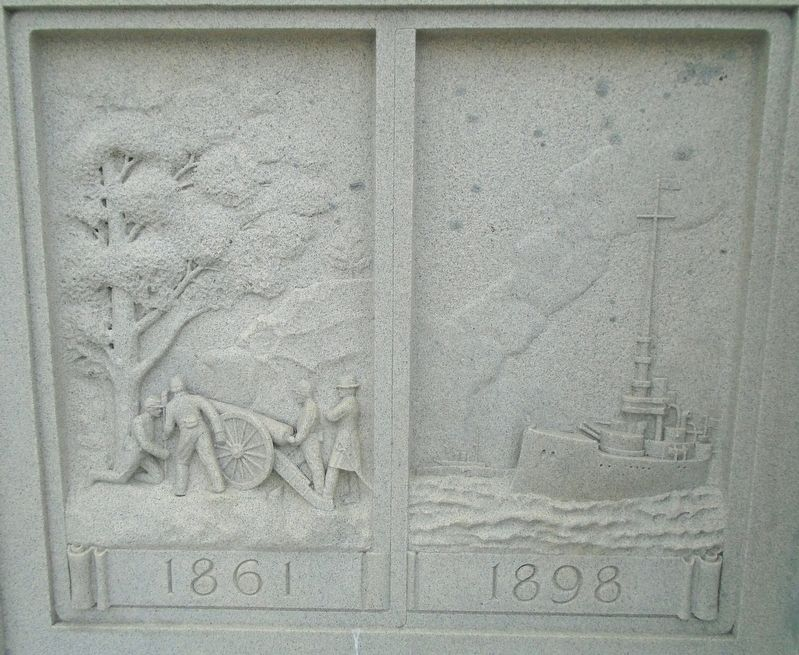 War Memorial 1861 and 1898 Reliefs image. Click for full size.