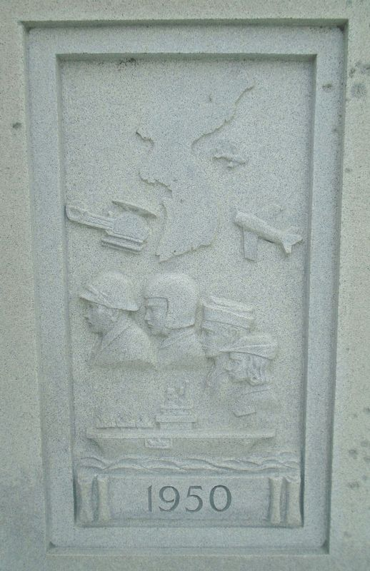 War Memorial 1950 Relief image. Click for full size.