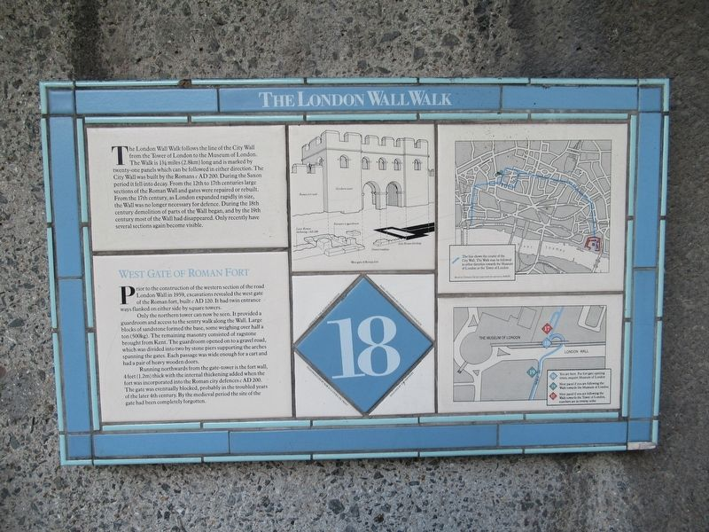 The London Wall Walk – 18 Marker image. Click for full size.