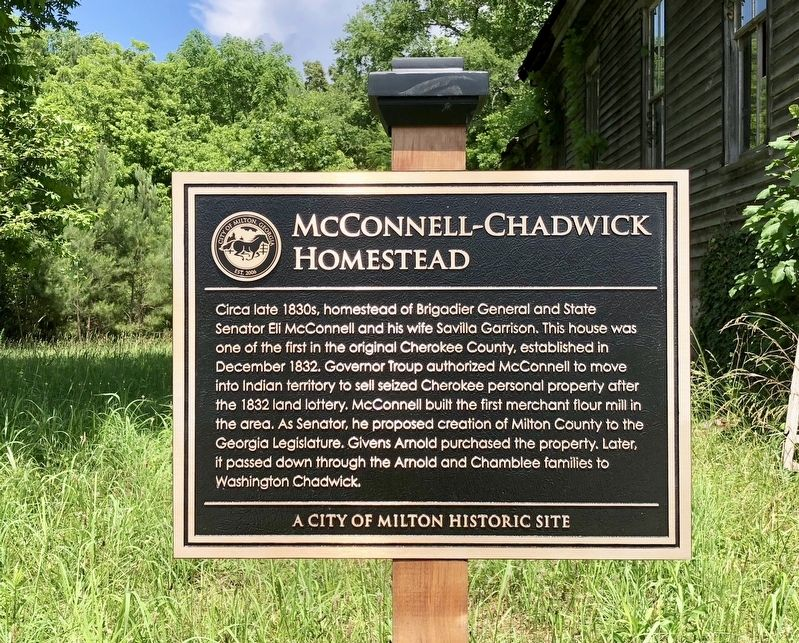 McConnell-Chadwick Homestead Marker image. Click for full size.