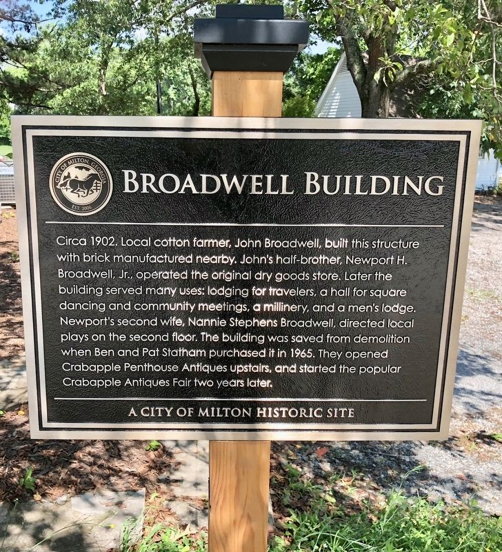 Broadwell Building Marker image. Click for full size.