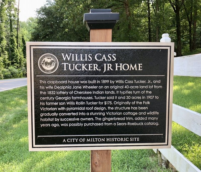 Willis Cass Tucker, Jr Home Marker image. Click for full size.